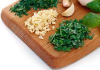 Garlic, parsley and basil