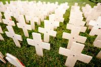 war memorial wooden crosses