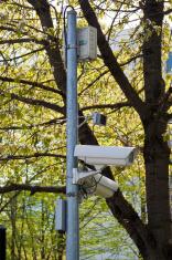 surveillance camera in a park