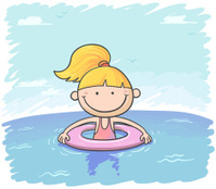 Cartoon Girl Swimming stock photos - FreeImages.com  Little