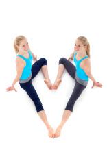 similar twins gymnastics heart