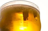 Glass of Beer in Sun Macro