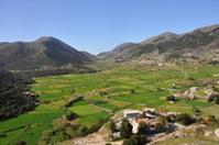 fields and landscape of crete, greece