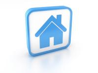 3d shape home simbol icon