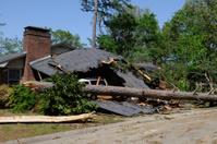 Tornado Damaged Home and Car