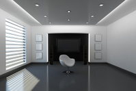Modern Interior with Black Background
