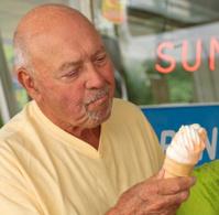 Enjoying an Ice Cream Cone