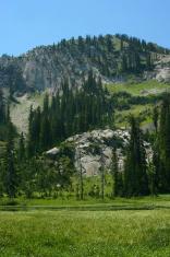 high altitude mountain scene