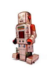 Pink Tinplate Robot