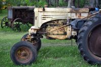 Rusty Yellow Tractor