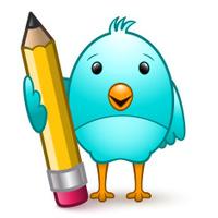 Cute Bird & Pencil