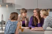 gossiping teenage girls