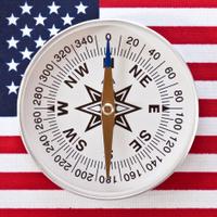 American Flag & Compass