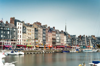 Honfleur city in Normandy - France