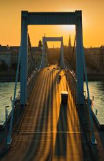 Sunrise at Elizabeth Bridge, Budapest