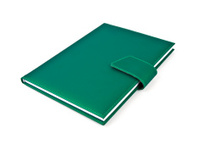 Green note book.