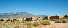 Modern Southwest Adobe Houses in Rio Rancho, New Mexico