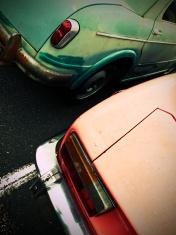 Grungy italian cars