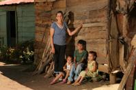 Poor Family in Rural Dominican Republic