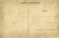 old empty postcard
