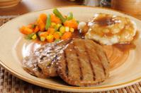 Salisbury steak with potatoes and gravy
