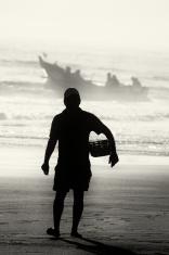 Fisherman on the Beach