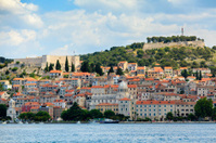 Sibenik - Croatian town during nice summer day