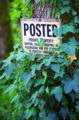 No Trespassing Sign.