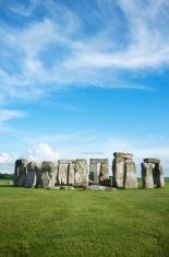 Stonehenge Blue Sky Vertical