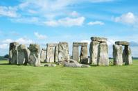 Stonehenge Bright Blue Sky Horizontal