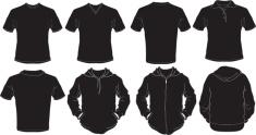 black male shirts template