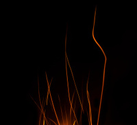 Abstract Campfire Sparks