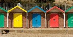 Locked beach huts