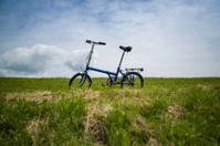Folding Bike on Dutch Dike