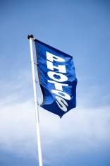 blue flag advertising photos