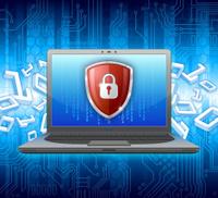 Laptop PC security concept