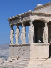 Caryatids in Erechtheion Temple - Acropolis