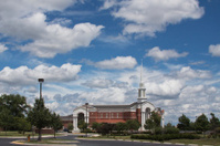 Church under the clouds