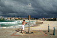 Storm approaching Bondi beach