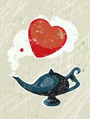 Aladdin's Lamp and Heart