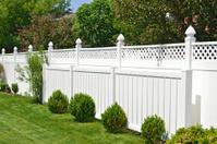 Contemporary white fence