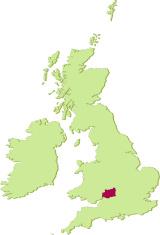 UK Gloucestershire map