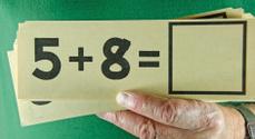 Old Educational Math Flash Card