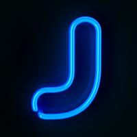 Neon Sign Letter J