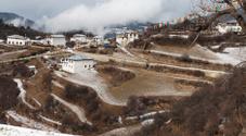 Khampa Tibetan Village and Farmland in High Mountain