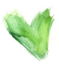 Watercolour Painted heart for environmental awareness