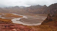Mekong River at Tibetan Plateau