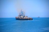 warship on patrol