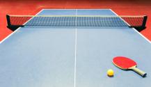 Table tennis equipment - racket, ball and net