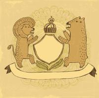 Lion-bear crest